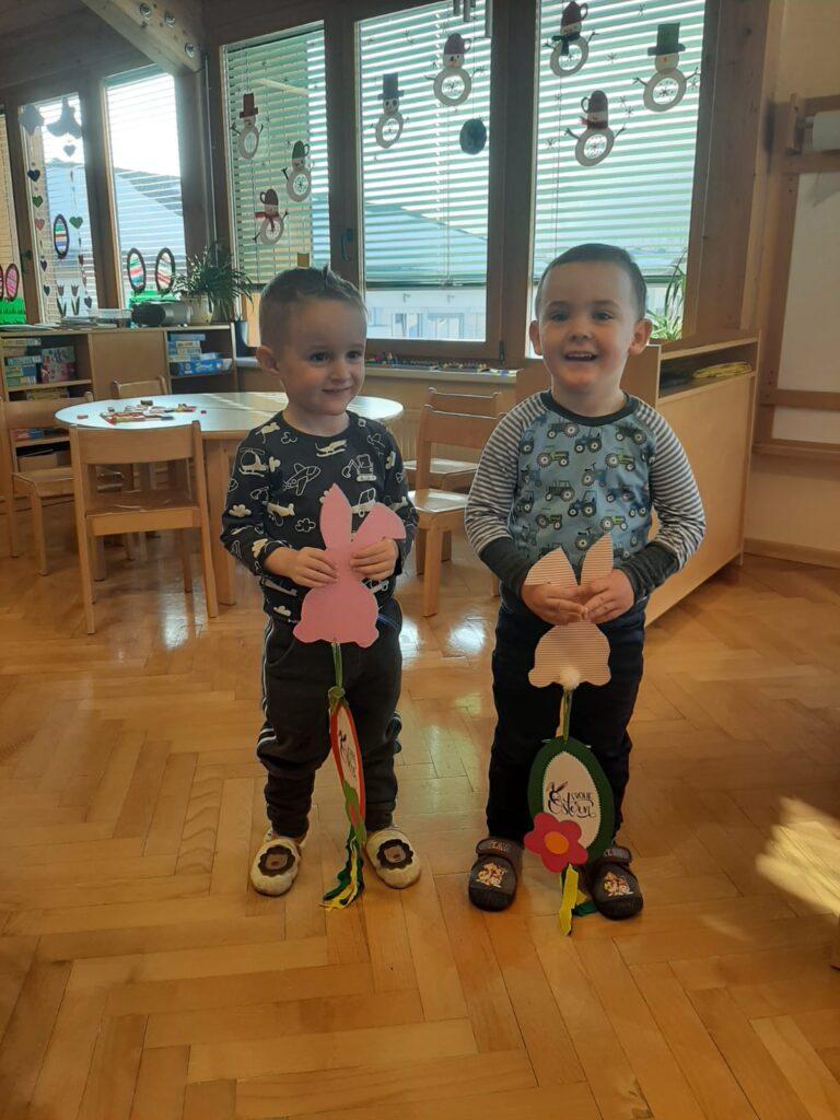 Kindergarten Gitschtal, Ostergeschenke für Patienten im Krankenhaus, www.gitschtal.news